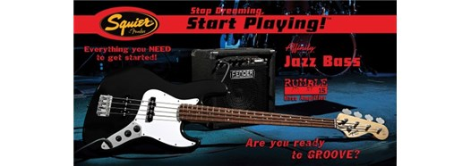 Stop Dreaming, Start Playing!™ Set: Affinity Series™ J Bass® with Rumble™ 15 Amp in Black