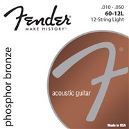 Phosphor Bronze 12-String Acoustic Guitar Strings -