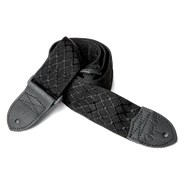 "2"" Nylon Jacquard Straps - Satin Black"