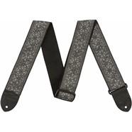 """2"""" Nylon Jacquard Straps - Metallic Silver"""