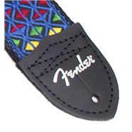Eric Johnson Signature Straps - Blue with Multi-Colored Triangle Pattern
