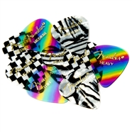 Fender® 351 Shape Graphic Picks (12 per pack) Zebra