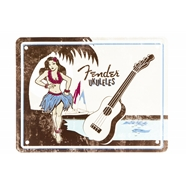 Fender™ Hula Girl Tin Sign