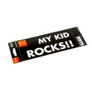 "Fender® ""My Kid Rocks"" Bumper Sticker - Black"