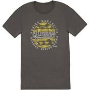 Fender Cali Coastal Yellow Waves Men's T-Shirt - Gray