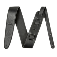 "Fender® Artisan Crafted Leather Straps - 2.5"" - Black"
