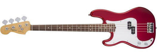 American Standard Precision Bass® Left-Hand Mystic Red