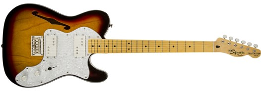 Squier® Vintage Modified '72 Tele Thinline in 3-Color Sunburst