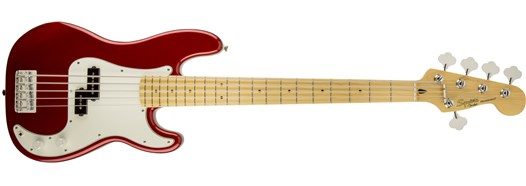 Vintage Modified Precision Bass® V in Candy Apple Red
