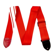 Fender® Competition Stripe Straps Red and White