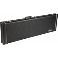 G&G Deluxe Hardshell Cases - Precision Bass® Black with Orange Plush Interior