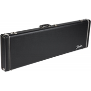 G&G Deluxe Hardshell Cases - Jazz Bass® Black with Orange Plush Interior