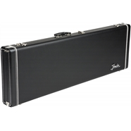 Fender® Pro Series Bass Cases Black with Black Plush Interior