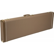 Jazz Bass® Multi-Fit Hardshell Cases in Brown with Gold Plush Interior