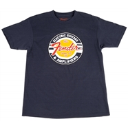 Fender® Guitars and Amps Logo T-Shirt Navy