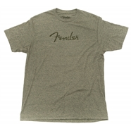 Fender® Distressed Logo Premium T-Shirt in Sage Green