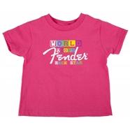 Fender® World Famous Rock Star T-Shirt - Pink