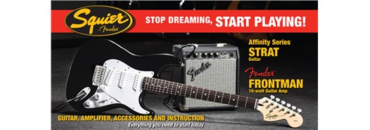 Stop Dreaming, Start Playing!™ Set: Affinity Series™ Strat® with Fender Frontman® 10G Amp Black