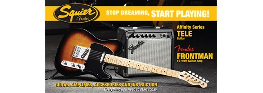 Stop Dreaming, Start Playing!™ Set: Affinity Series™ Tele® with Fender Frontman® 15G Amp in Brown Sunburst
