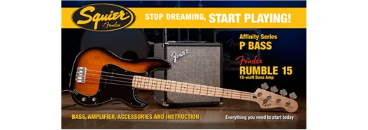 Stop Dreaming, Start Playing!™ Set: Affinity Series™ Precision Bass® with Fender® Rumble™ 15 Amp - Brown Sunburst
