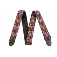 Fender® Festival Hootenanny Straps - Red and Black