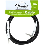 Fender® Performance Series Instrument Cables (Straight-Right Angle) - Black