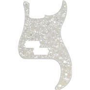 13-Hole Modern-Style Standard Precision Bass® Pickguards - White Moto