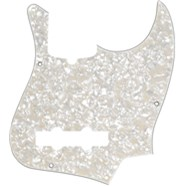 10-Hole Contemporary Jazz Bass® Pickguards - Aged White Pearloid