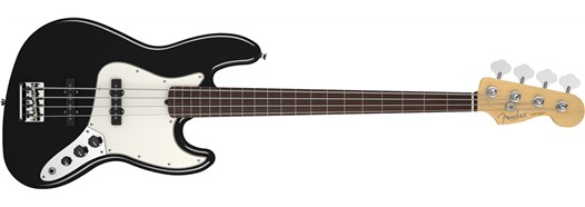 American Standard Jazz Bass® Fretless Black
