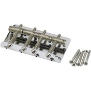 Vintage-Style Bass Bridge Assembly - Nickel