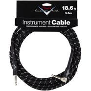 Fender® Custom Shop Performance Series Cables (Straight-Right Angle) in Black Tweed