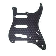 11-Hole Modern-Style Stratocaster® S/S/S Pickguards Engine Turned Black