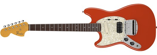 Kurt Cobain Mustang® Left-Hand Fiesta Red
