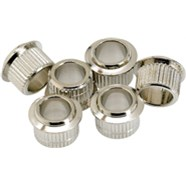 Vintage-Style Tuning Machine Bushings (6) - Chrome