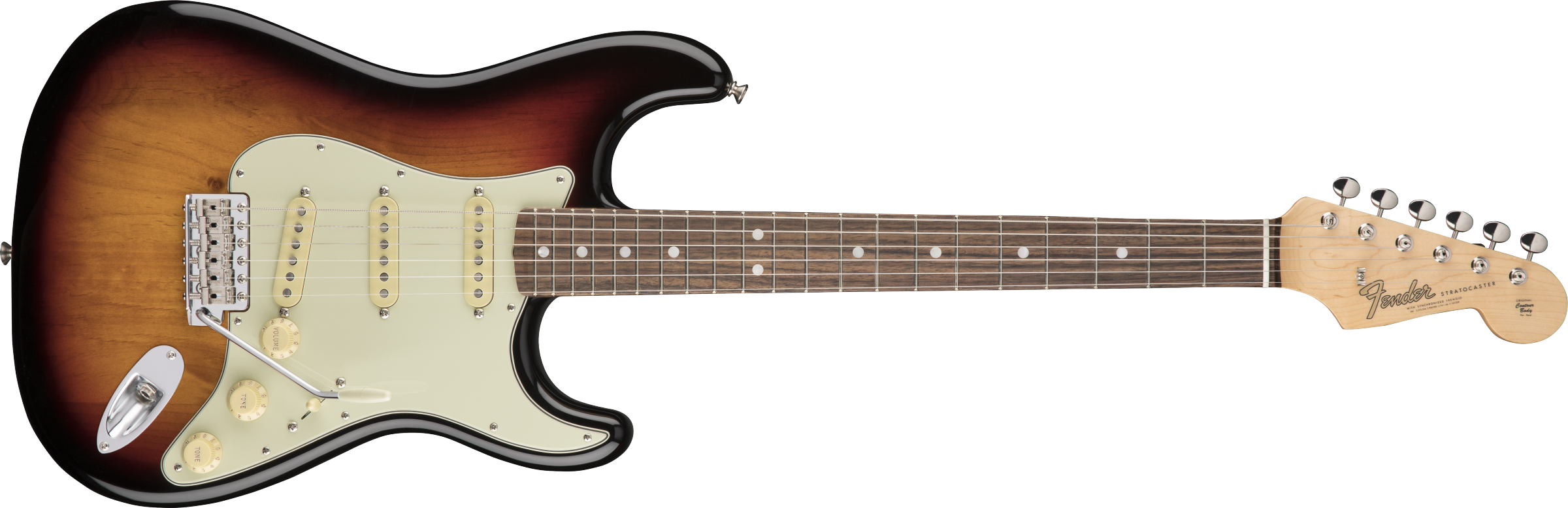 FENDER American Original 60s Stratocaster, Rosewood Fingerboard, 3-Color Sunburst