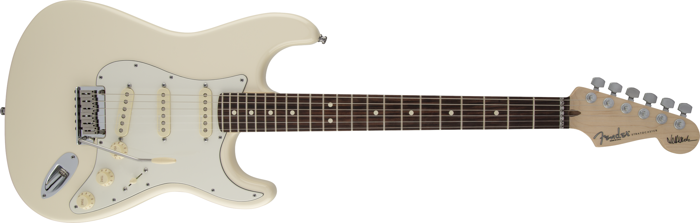 FENDER Jeff Beck Stratocaster, Rosewood Fingerboard, Olympic White