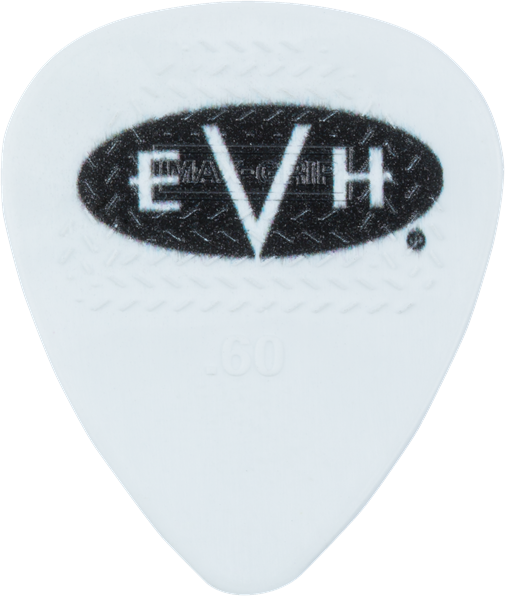 EVH® Signature Picks, White/Black, .60 mm, 6 Count