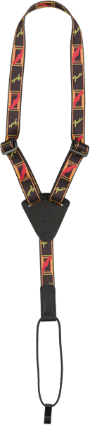 FENDER Fender Ukulele Strap, Black/Yellow/Red - Chitarre Accessori - Tracolle