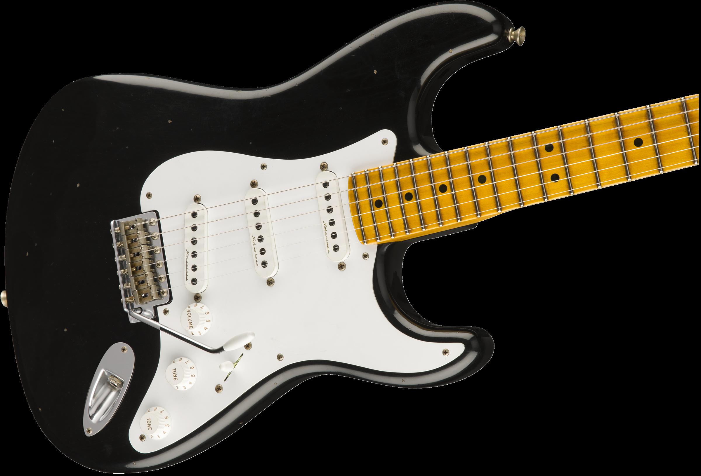 Fender eric clapton stratocaster electric guitar soft v maple neck.