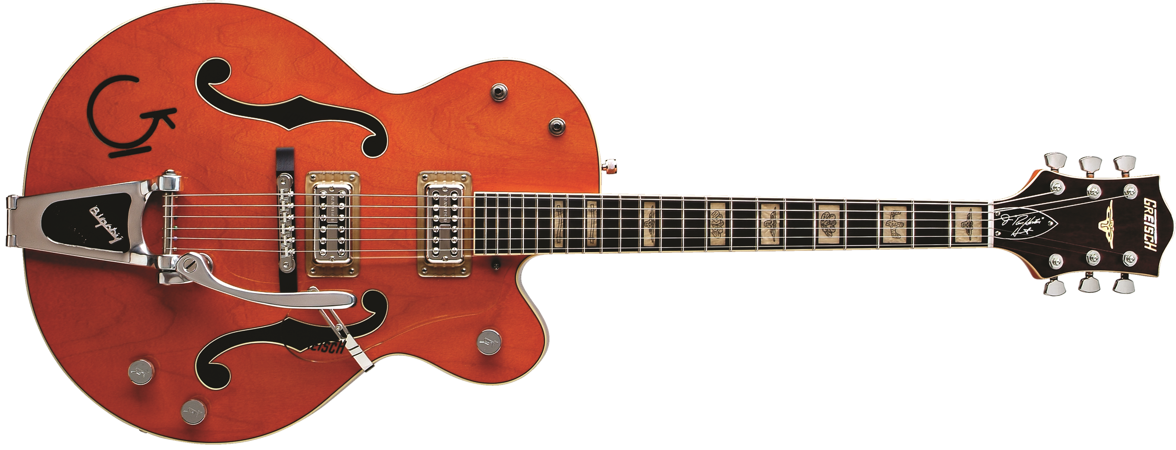 GRETSCH G6120RHH Reverend Horton Heat Signature Hollow Body with Bigsby, Ebony Fingerboard, Orange Stain, Lacquer