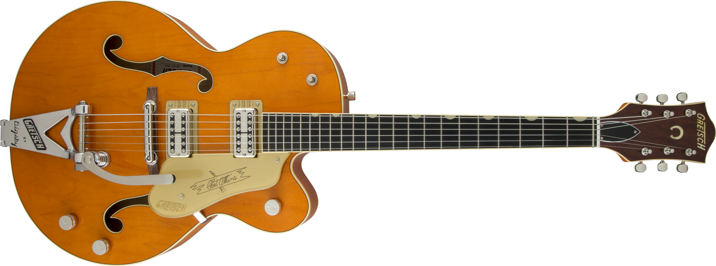 G6120T-59 Vintage Select Edition '59 Chet Atkins® Hollow Body with Bigsby®, TV Jones®, Vintage Orange Stain Lacquer