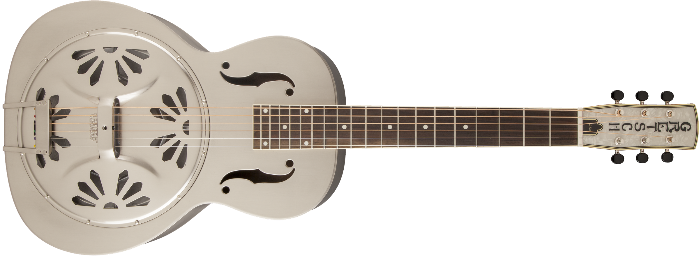 GRETSCH G9231 Bobtail Steel Square-Neck A.E., Steel Body Spider Cone Resonator Guitar, Fishman Nashville Resonator Pickup