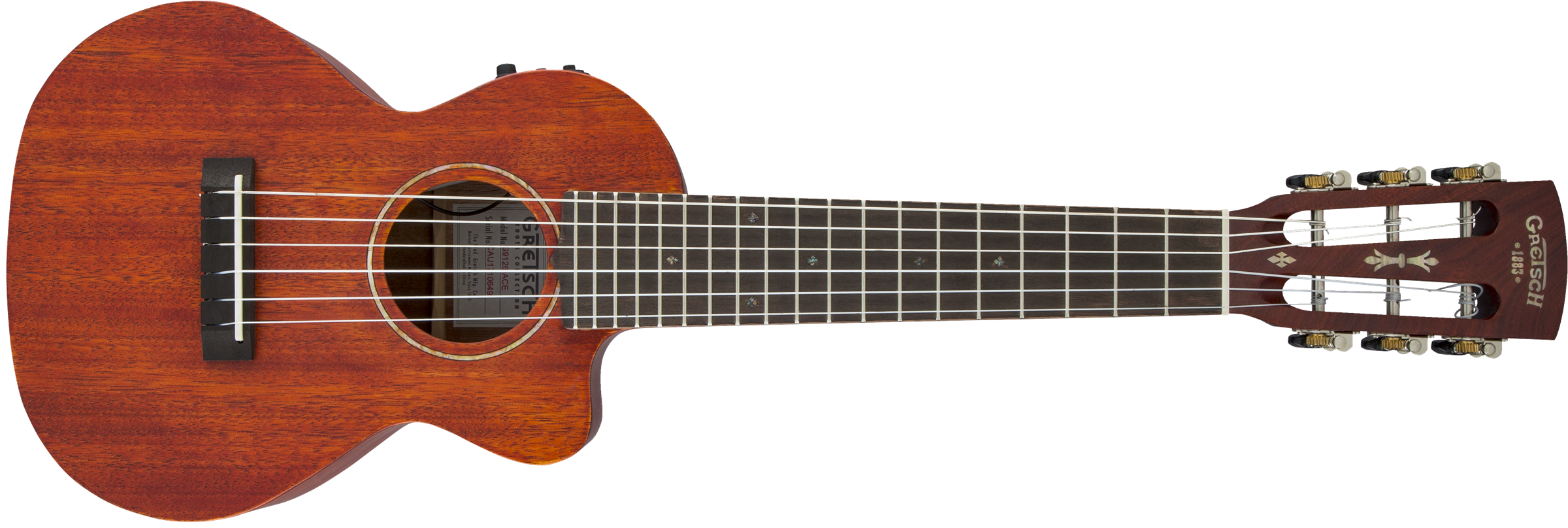 GRETSCH G9126 A.C.E. Guitar-Ukulele, Acoustic-Cutaway-Electric with Gig Bag, Ovangkol Fingerboard, Fishman Kula Pickup, Honey Mahogany Stain