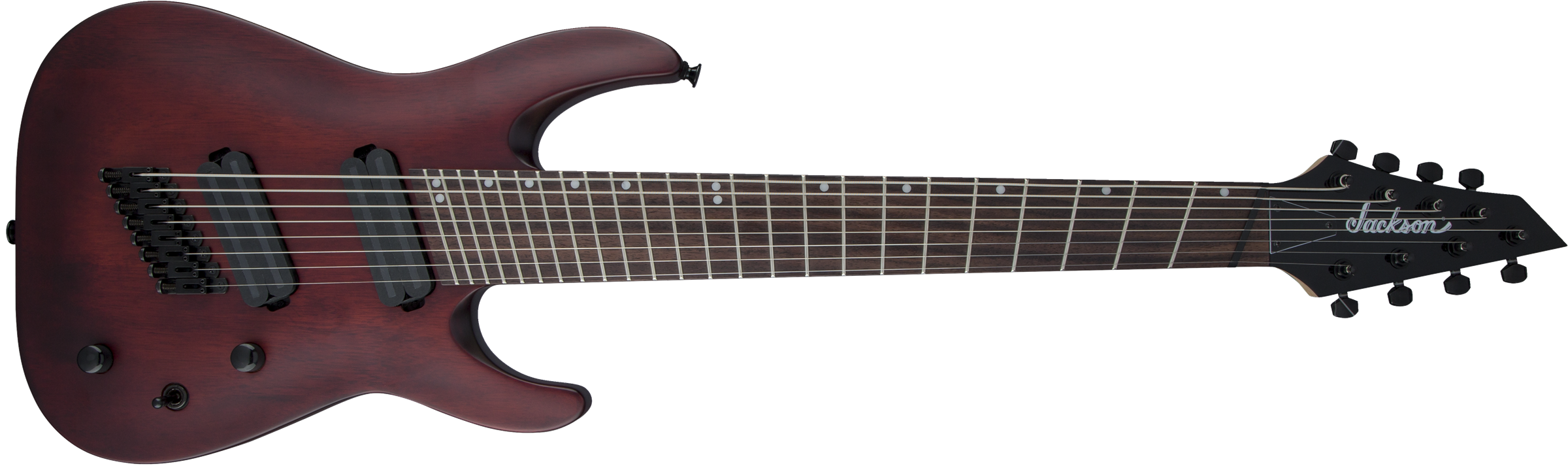 JACKSON X Series Dinky Arch Top DKAF8 MS, Dark Rosewood Fingerboard, Multi-Scale, Stained Mahogany