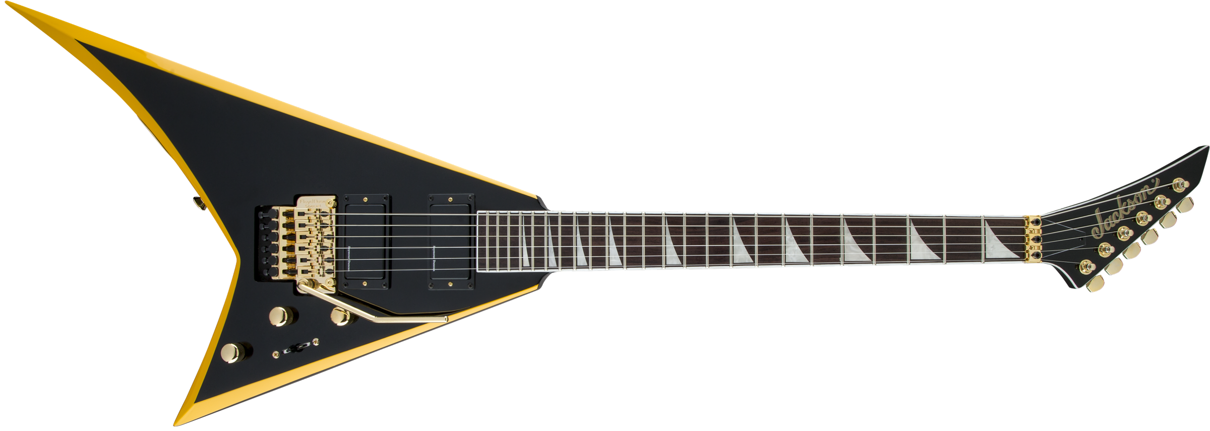 JACKSON X Series Rhoads RRX24, Rosewood Fingerboard, Black with Yellow Bevels