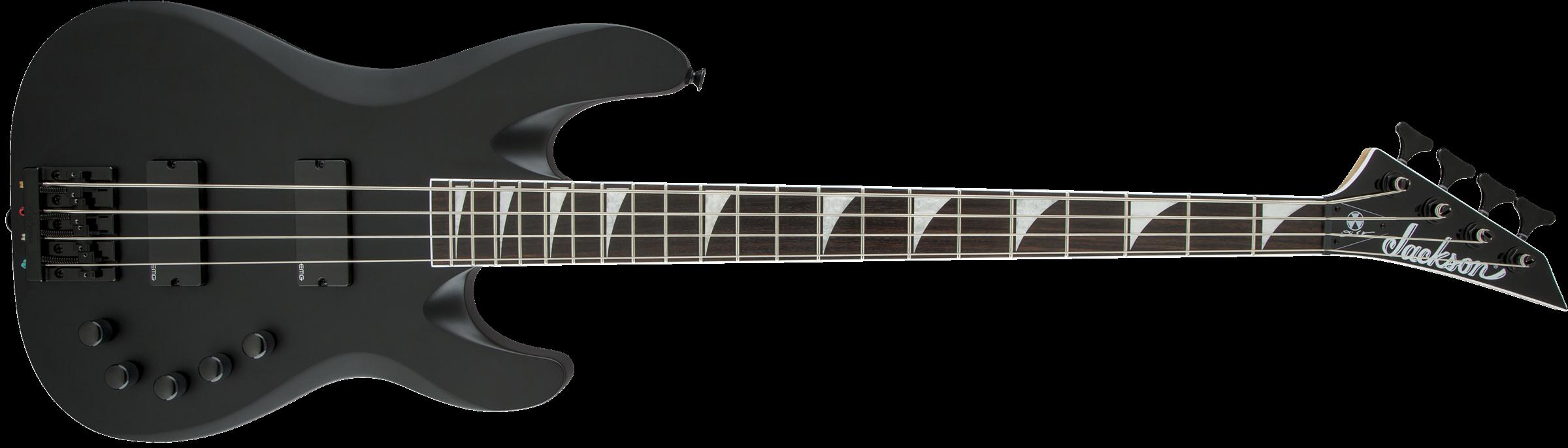 JACKSON X Series Signature David Ellefson Concert Bass CBX IV, Laurel Fingerboard, Satin Black