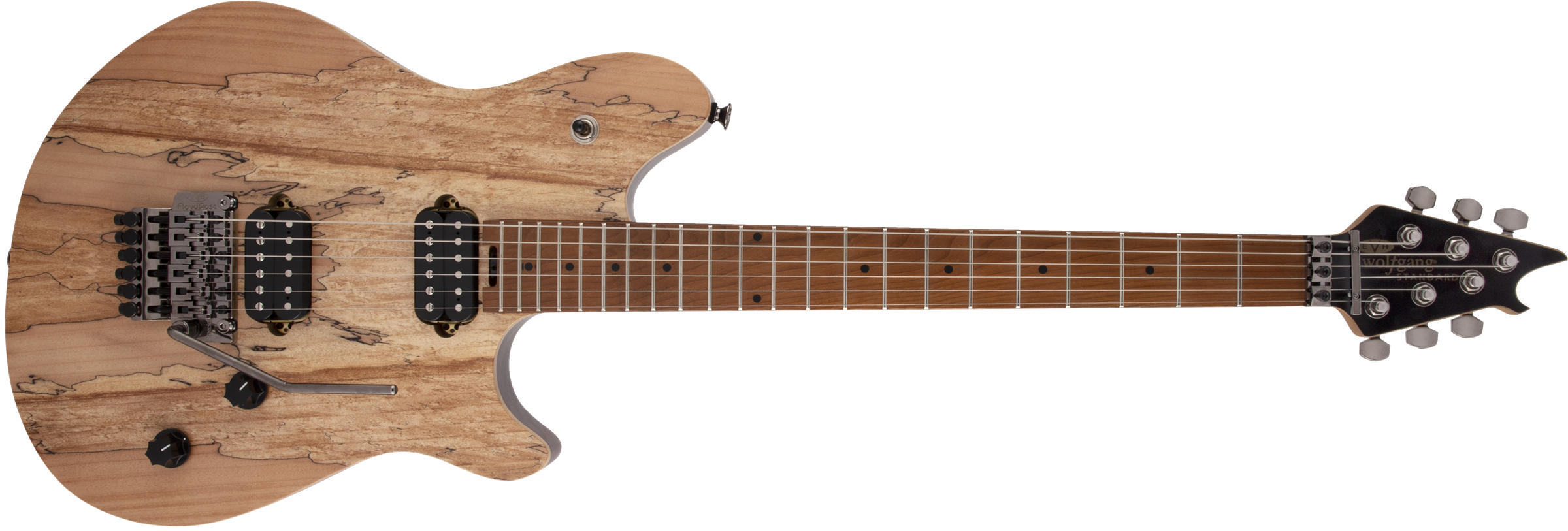 Wolfgang® WG Standard Exotic Spalted Maple, Baked Maple Fingerboard, Natural