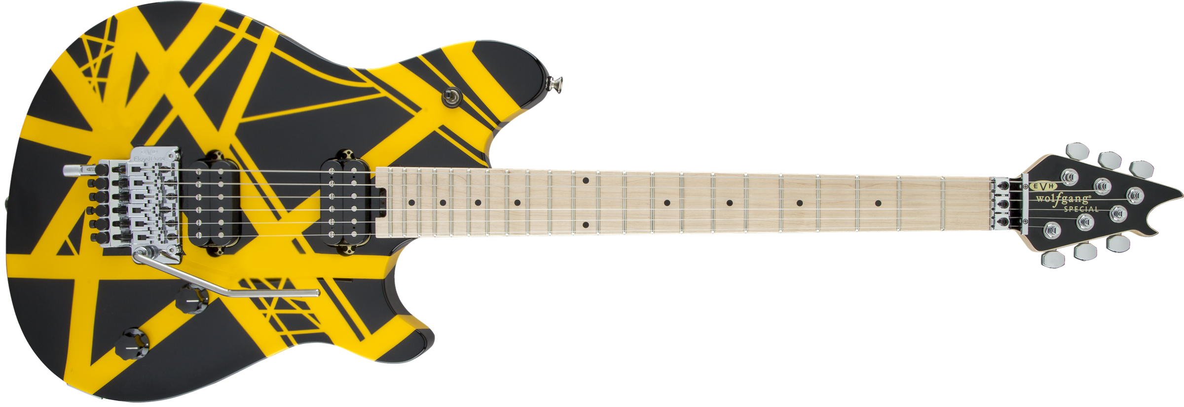 Wolfgang® Special Striped, Maple Fingerboard, Black and Yellow