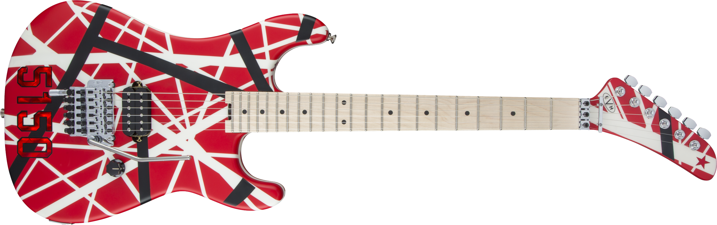 Striped Series 5150®, Maple Fingerboard, Red with Black and White Stripes