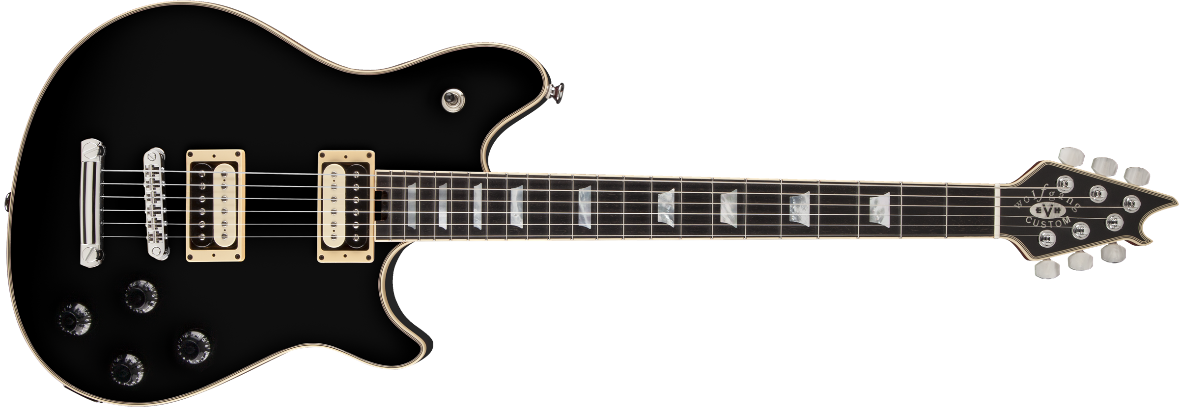 EVH® Wolfgang® USA Custom Deluxe, Ebony Fingerboard, Black